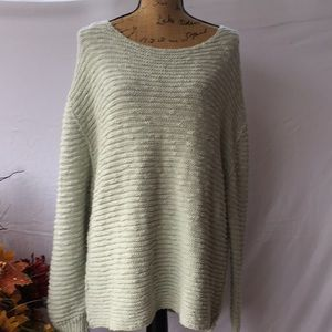 Free People Mint Green Tunic Sweater